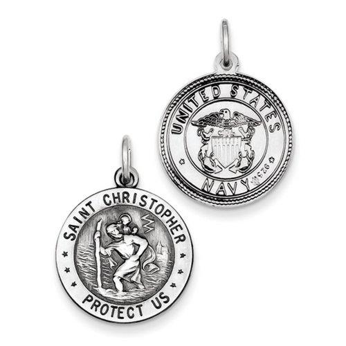 icecarats-designer-di-gioielli-in-argento-sterling-st-christopher-us-navy-medaglia