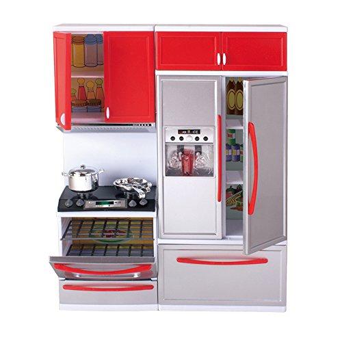 Qun feng girls modern toy kitchen refrigerator playset for Girls kitchen playset