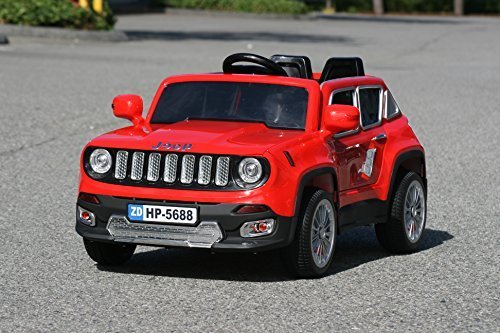 jeep renegade ride on toy car for kids remote control 12v battery operated 4kids little kid cars