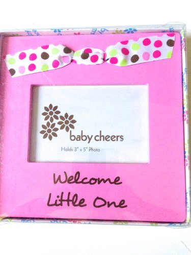 "Gorgeous Baby Girl Frame Says "" Welcome Little One"" and Holds 3' By 5' Photo"