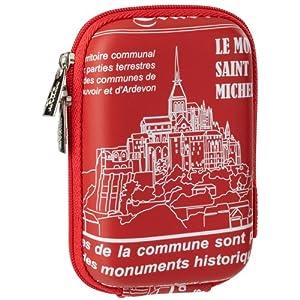 RivaCase 7103 PU Case for Digital Camera - Red/Saint Michel/Travel