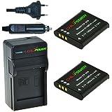 ChiliPower Olympus Li-50B Kit: 2x Batterie (1000mAh) + Chargeur pour Olympus Stylus 1010, 1020, 1030, 9000, 9010, SP-720UZ iHS, SP-800UZ, SP-810UZ, SZ-10, SZ-11, SZ-12, SZ-15, SZ-16 iHS, SZ-20, SZ-30MR, SZ-31MR iHS, Tough 6000, 6020, 8000, 8010, TG-610, TG-620 iHS, TG-630 iHS, TG-805, TG-810, TG-820 iHS, TG-830 iHS, TG-835, TG-850, VG-190, VH-410, VH-515, VR-340, VR-350, VR-370, XZ-1, XZ-10