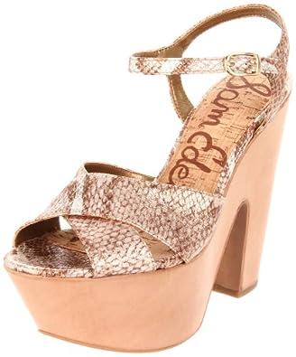 Sam Edelman Women's Corbin Platform Sandal,Shimmer,8 M US