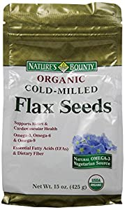 Natures Bounty Organic Cold Milled Flax Seeds, 15 Ounce