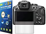 GuarmorShield 3x Panasonic Lumix DMC-FZ70 DMC-FZ72 Digital Camera Premium Clear LCD Screen Protector Guard Shield Kit (NO CUTTING, GUARMOR Brand)