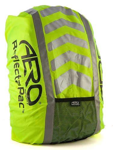 Aero Sport? Reflectapactm 3M Scotchlite Hi Viz Waterproof Rucksack Backpack Cover