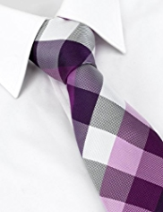 Ultimate Performance Pure Silk Checked Tie