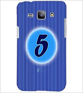 PrintDhaba Numerology Number 5 D-2560 Back Case Cover for SAMSUNG GALAXY J1 (Multi-Coloured)