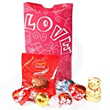 Lindt Love Pouch - Truffles, Hearts, Gold Bear and Melting Moment - By Moreton Gifts - Valentine's Day Gift