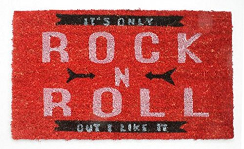 music door mat floor mat it 39 s only rock n roll retro style 28 x 16 inches accessories. Black Bedroom Furniture Sets. Home Design Ideas