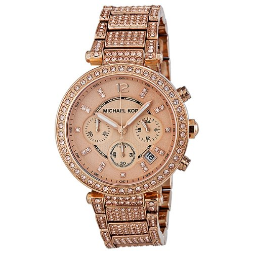 Michael Kors Uptown Glam Parker Chronograph Rose