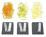 Lurch 10317 Spiralschneider mit drei Klingeneinsätzen, grau/weiß -