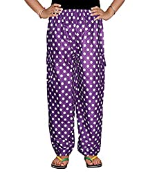 Bright & Shining Women Purple Cotton Pyjama