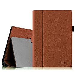 Fintie Lenovo Yoga 10 / Yoga 10 HD+ Folio Case - Premium PU Leather Cover With Stylus Holder (For Yoga Tablet 10.1-Inch / Yoga Tablet 10.1-Inch HD+) - Brown