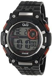 Q&Q Standard Digital White Dial Mens Watch - M125J002Y