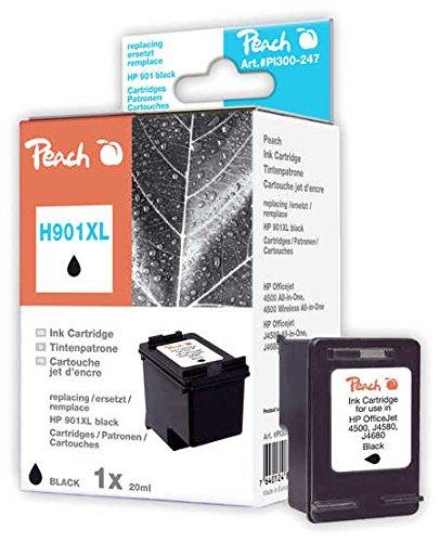 Peach H901XL bk Druckkopf kompatibel zu HP CC654AE, No. 901XL, schwarz