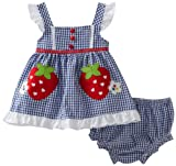 Youngland Baby-Girls 2 pc Set Infant Strawberry Seersucker Sundress