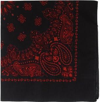 4043 Black And Red Print Trainmen Bandana