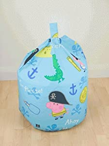 Peppa Pig George Pirate Bean Bag, Multi by Linens Limited
