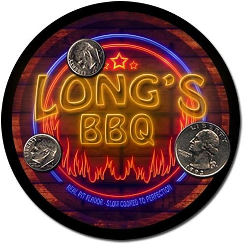 Long'S Barbeque Drink Coasters - 4 Pack