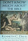 img - for DON'T KNOW MUCH ABOUT THE BIBLE book / textbook / text book