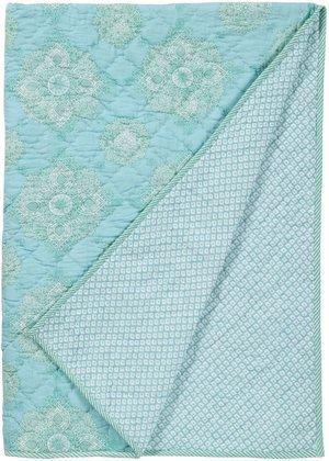 Masala Baby Kolam Moksha Quilt- Turquoise front-766047