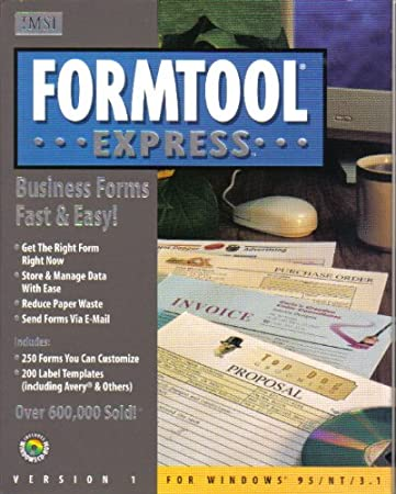 Formtool Express Business Forms Fats and Easy