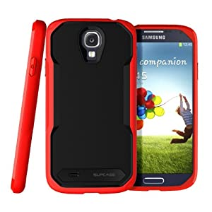 SUPCASE Unicorn Beetle Series Premium Hybrid Protective Case for Samsung Galaxy S4 i9500 Smartphone (Black/Red) - Multiple Color Options