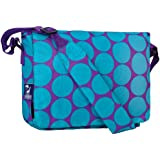 Wildkin Big Dots Kickstart Messenger Bag, Aqua