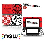 Ci-Yu-Online VINYL SKIN [new 3DS XL] - Super Mario White & Red - Limited Edition STICKER DECAL COVER for NEW Nintendo 3DS XL / LL Console System