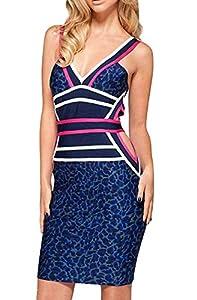 V-neck Nylon/Rayon/Spandex Cutout Empire   Waistline Sleeveless Bodycon Dress/Evening Dress/Party Dress
