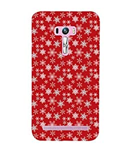 multicoloured stars in red background 3D Hard Polycarbonate Designer Back Case Cover for Asus Zenfone Selfie :: Asus Zenfone Selfie ZD551KL