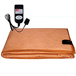 Winter Care Automatic Double Bed Electric Blanket (Throw/Under Blanket) - Fawn (72 X 60 Inches)