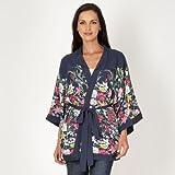 Rocha.John Rocha Designer Dark Blue Floral Kimono Jacket