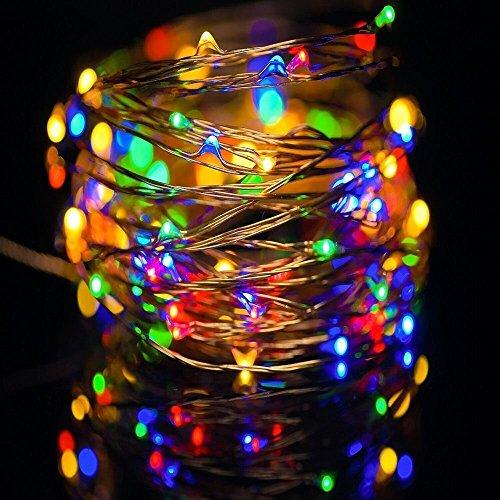 Solla-98ft3M-30er-LED-Lichterkette-Bunt-Kupferdraht-Batterie-betrieben-fr-Weihnachten-Silvester-Hochzeiten-Geburtstage-etc