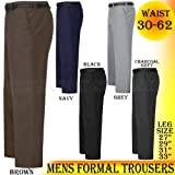 MENS OFFICE FORMAL BUSINESS TROUSERS PANTS BIG PLUS KING SIZE 30