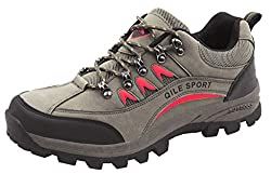 4How Men's Leather Hiking Boot Sport Shoes Trail Footwear