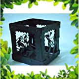 Chinhhari Arts Tribal Wrought Iron Big Candle Stand/Pen Stand ( Black, 12.7 Cm X 12.7 Cm X 12.7 Cm )