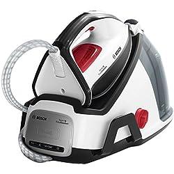 Bosch TDS6040 EasyComfort - Centro de planchado, 2.400 W, 5,8 bares, con 380 g de supervapor, función iTemp, color blanco y negro