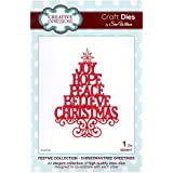 Creative Expressions Festive Collection - Christmas Tree Greetings Die Set by Sue Wilson CED3017