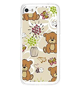 Cute Bear Wallpaper 2D Hard Polycarbonate Designer Back Case Cover for Apple iPhone 5C