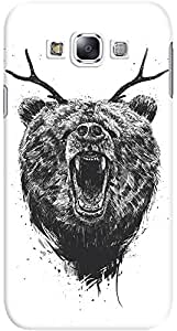 galaxy e7 back case cover ,Angry Bear With Antlers Designer galaxy e7 hard back case cover. Slim light weight polycarbonate case with [ 3 Years WARRANTY ] Protects from scratch and Bumps & Drops.