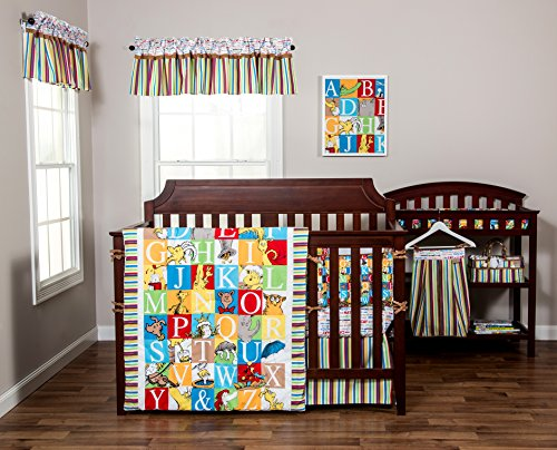 Trend Lab Dr. Seuss Alphabet Seuss 3 Piece Crib Bedding Set