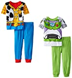 Disney Little Boys' Toy Story Best Of Pals 4 Piece Pajama Set
