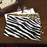Set of 12 Animal Print File Folders - Zebra, Leopard, Cheetah, Tiger