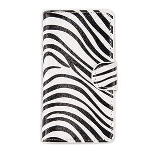 tinxi® PU Ledertasche für Sony Xperia Z1 Compact / mini Tasche Flipcase Schutz Case Cover Standfunktion mit Karten Slot Zebra Muster (nicht für Sony Z1 geeignet)