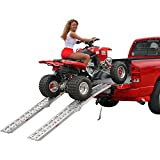 """90"""" Dual Runner Aluminum Solid Surface Arched Folding ATV Ramps with a 1,500 lb. Capacity"""