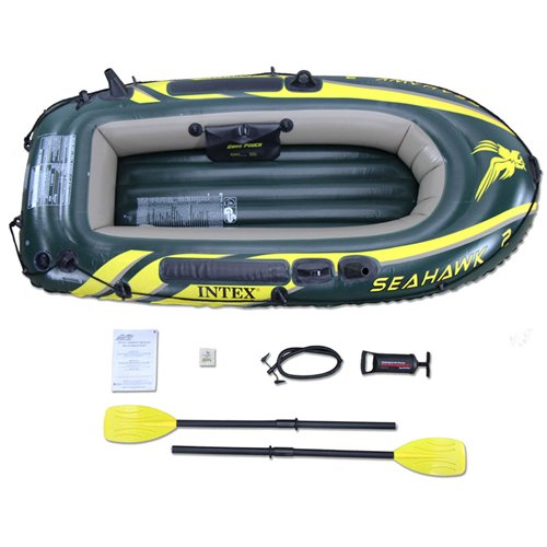INTEX Seahawk 2 Inflatable Boat Set with Oars & Air Pump   68347EP by INTEX (Intex Seahawk Ii Boat Set compare prices)