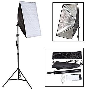 TecTake® Profi Fotostudio Studioleuchte inkl Leuchtmittel Studioset Softbox ALU Studiolampe Stativ Photo + Tasche