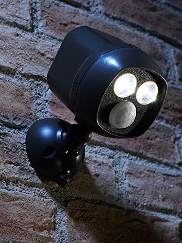 Auraglow Lampe de sécurité double très brillante de chez, activée par le mouvement d'infra rouge passif, étanche et sans fil